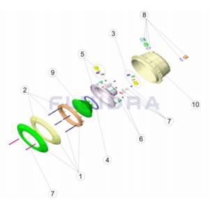 07837 proyector standar piscinas subacuatico luz led halogeno  blanco astralpool  inox