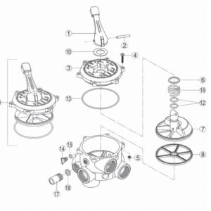 Valvula selectora Modelo VK6 Kripsol astralpool scp coral Qp quimicamp piscina filtracion